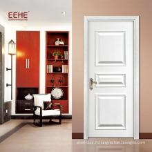 Les prix de porte en bois stratifié de placage moderne conçoivent la sculpture en bois de porte principale