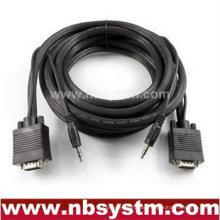 Super VGA HD15 M / M Kabel mit Stereo Audio und Triple Shielding (vergoldet)