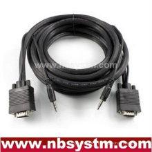 Super VGA HD15 M / M Câble avec audio stéréo et triple blindage (plaqué or)