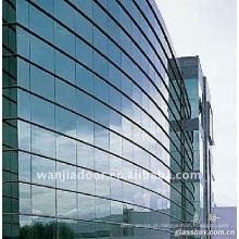 Novo design estrutural parede de cortina de vidro