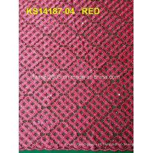 New Design Cordão Africano Cordão Alta Qualidade Africano Guipure Cord Lace 100 Tecido de malha de poliéster