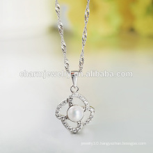 New Style In 2016 Hot Selling Charming Jewelry Pearl 925 Silver Necklace SCR023