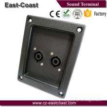 Speaker terminal box with 2 speakon jack