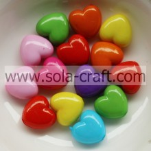 6*10*11MM Opaque Colorful Jewelry Heart Charm Beads Pattern