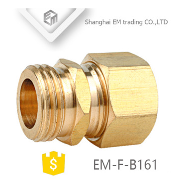 EM-F-B161 NPT union brass pipe fitting with hex nut