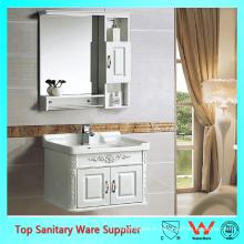 Vanité de salle de bains de 24 pouces, armoire de miroir de lavabo PVC
