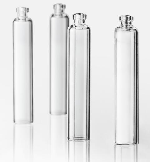 Empty Glass Dental Cartridge Glass Tubular Vial