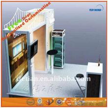 escaparate de pared de diseño con divisores para el arte de la cabina de exposición