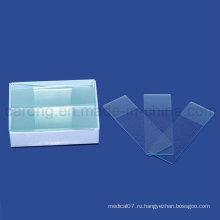 Одноразовые предметные стекла микроскопа для лаборатории использовать