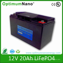 Rechargeable LiFePO4 Battery Pack 12V 20ah UPS Battery with BMS