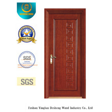 Porta clássica do MDF da prova da água do estilo para o interior com madeira maciça (xcl-822)