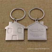 Promotion Gifts Metal House Shaped Keychain with Laser Logo