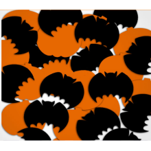 Halloween Pumpkin and Bat Mylar Confetti for Celebration