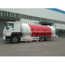 Howo 4*2 LPG gas tank truck, china factory supply lpg truck for sale