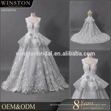 Material especial del cordón del desgin vestido de boda 100% del poliester