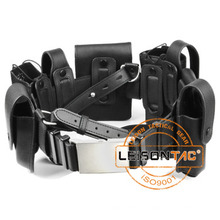 Leather Material Military Tactical Belt for security outdoor sports hunting