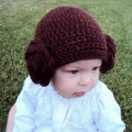 Newborn Princess Hat Crochet Princess Leia Hat