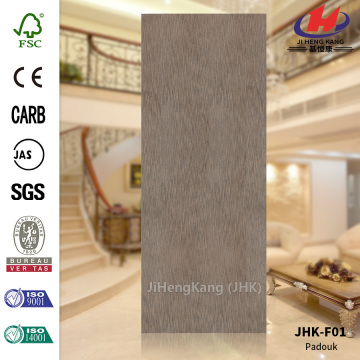 Smooth Surface Natural Padouk HDF Door Skin