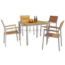 Diseño moderno Patio al aire libre que cena los muebles Muebles de jardín de madera (D540; S240)
