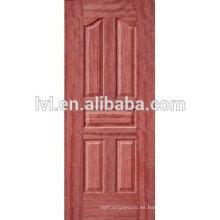Piel de puerta moldeada de melamina HDF