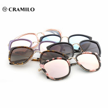 mundo más popular logotipo personalizado uv400 gafas gafas de sol mujeres al por mayor