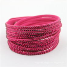 Wholesales Fashion Crystal Custom Bracelet Leather Bracelets
