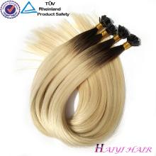 Großhandel Häutchen Ausgerichtet Doppelter Gezogenes Reines Haar Keratin Flache Spitze Haarverlängerung