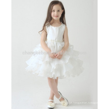Vestido de marfim Organza Flower Girl Vestidos Princesa casamento Bridesmaid Comunhão Tutu Vestido