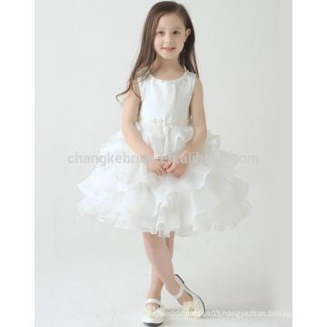 Ivory Cake Organza Flower Girl Dresses Princess Wedding Bridesmaid Communion Tutu Dress