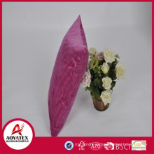 Almohada de amortiguador en relieve onda de alta calidad, amortiguador micromink rosa sólido, fábrica de almohada cojín venta directa