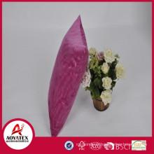 Oreiller de coussin en relief de haute qualité vague, coussin de micromink rose solide, usine d'oreiller de coussin directement vente