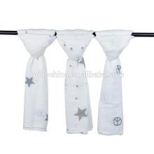 4шт хлопок Муслин пеленать одеяло ребенка обертывание