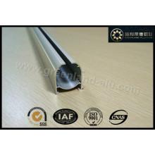 Perfil de Aluminio de Roman Blind Cerrar Cara de Pistola de Carril Blanco con Velcro Gl3002