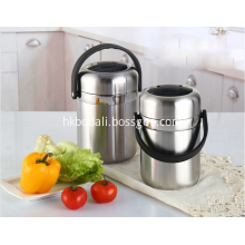 Stainless Steel Food Container with Handles