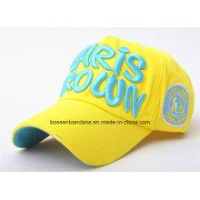 Logotipo modificado para requisitos particulares de la fuente de fábrica Deportes bordados Gorra de béisbol promocional del algodón