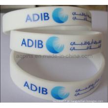 Bracelete de silicone personalizado com logotipo impresso