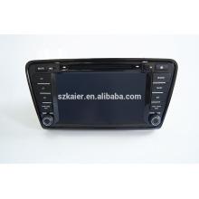 Quad-Core-Auto GPS-Navigation mit Wireless-Rückfahrkamera, Wi-Fi, BT, SPIEGEL-CAST, AIRPLAY, DVRDual Zone, SWC für Skoda Octavia 2014
