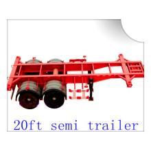 20ft Cheap Price Skeleton Semi Trailer for Transport