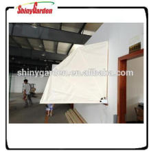 steel round tube fabric awning half round awning