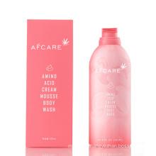 2020 New 350ml Foam Mousse Bubble Body Wash Cleansing Brightening Amino Acid Skin Lightening Whitening Shower Gel for Body Wash