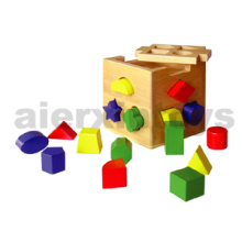 Wooden Shape Sorting Cube (80072)