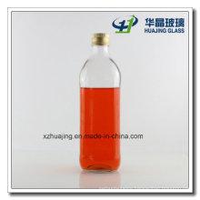 Transparent 1 Liter Empty Glass Olive Oil Bottles with Cap