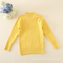 O-cuello Kids Knitting Sweater printting suéteres de invierno para niñas niños suéteres de otoño
