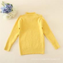 O-образным вырезом дети свитер Вязание цветов тепло зимой кофты для детей девочек осень свитера