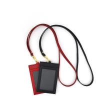 ID-Kartenhalter aus Saffiano-Leder mit Umhängeband