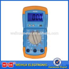 multimètre numérique à bas prix A830L avec testeur de batterie de rétro-éclairage