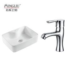 Factory price custom logo home restaurant hotel used modern ceramic counter top basin for bathroom