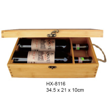 Factory Price for Bamboo Wine Bottle Holder Bamboo Wine Gift Box For 2 Bottle export to Venezuela Factory