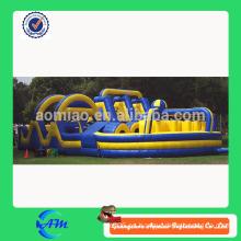 Obstáculo inflable caliente y barato, curso de obstáculo inflable, barrera inflable