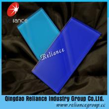 Vidro decorativo azul escuro / vidro pintado com alta qualidade